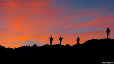 alabama hills sunset, owens valley, california