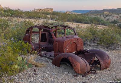 terlingua texas, ghost town, car