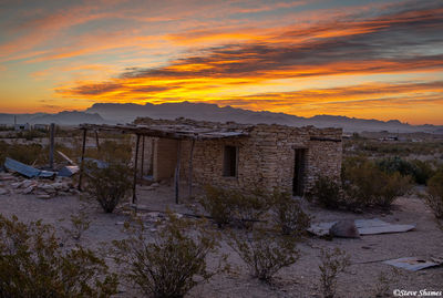 terlingua sunrise, texas