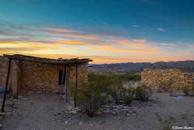 terlingua texas, sunrise, ghost town,