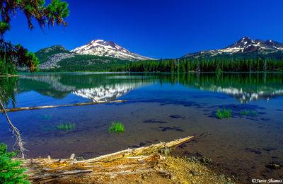 bend, oregon, three sisters mountains, sparks lake