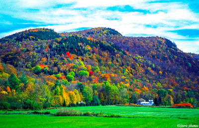colorful hillsides, vermont, new england
