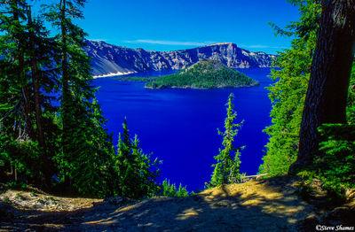 crater lake national park, oregon, wizard island