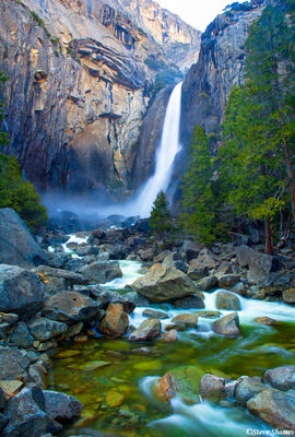 yosemite national park, waterfall, creek