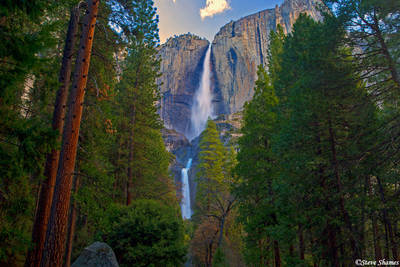 yosemite falls, waterfall, national park