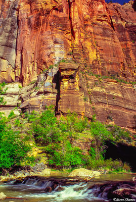 zion national park, utah, canyon wall, virgin river