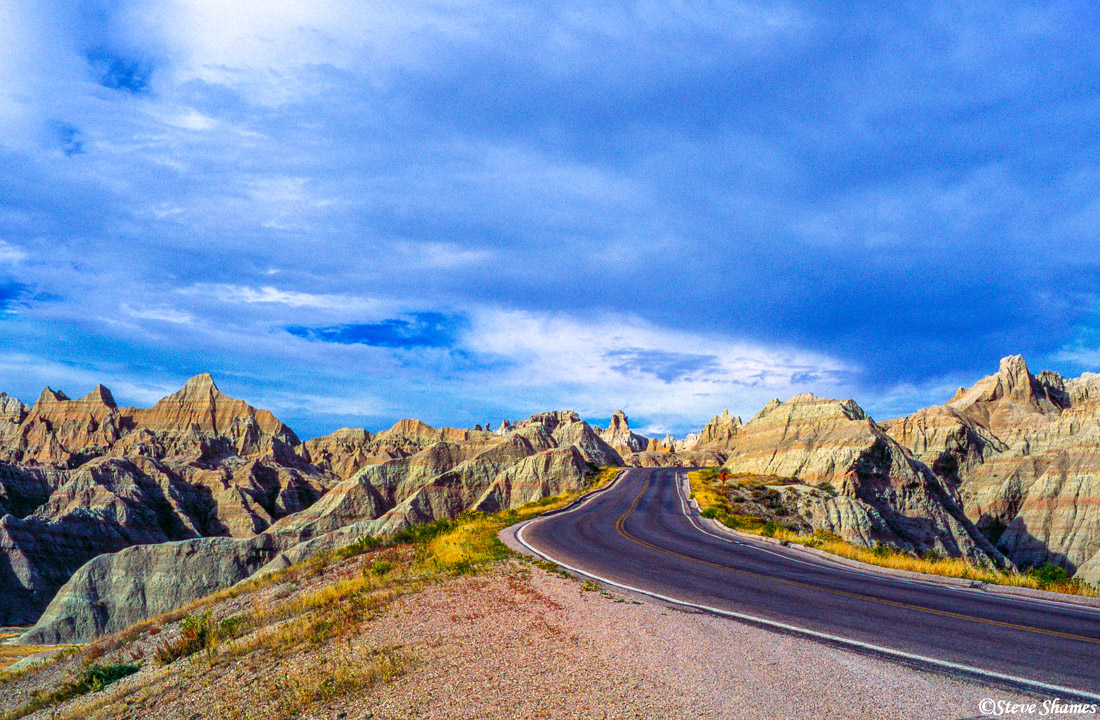 badlands national park, south dakota, cloudy sky, photo