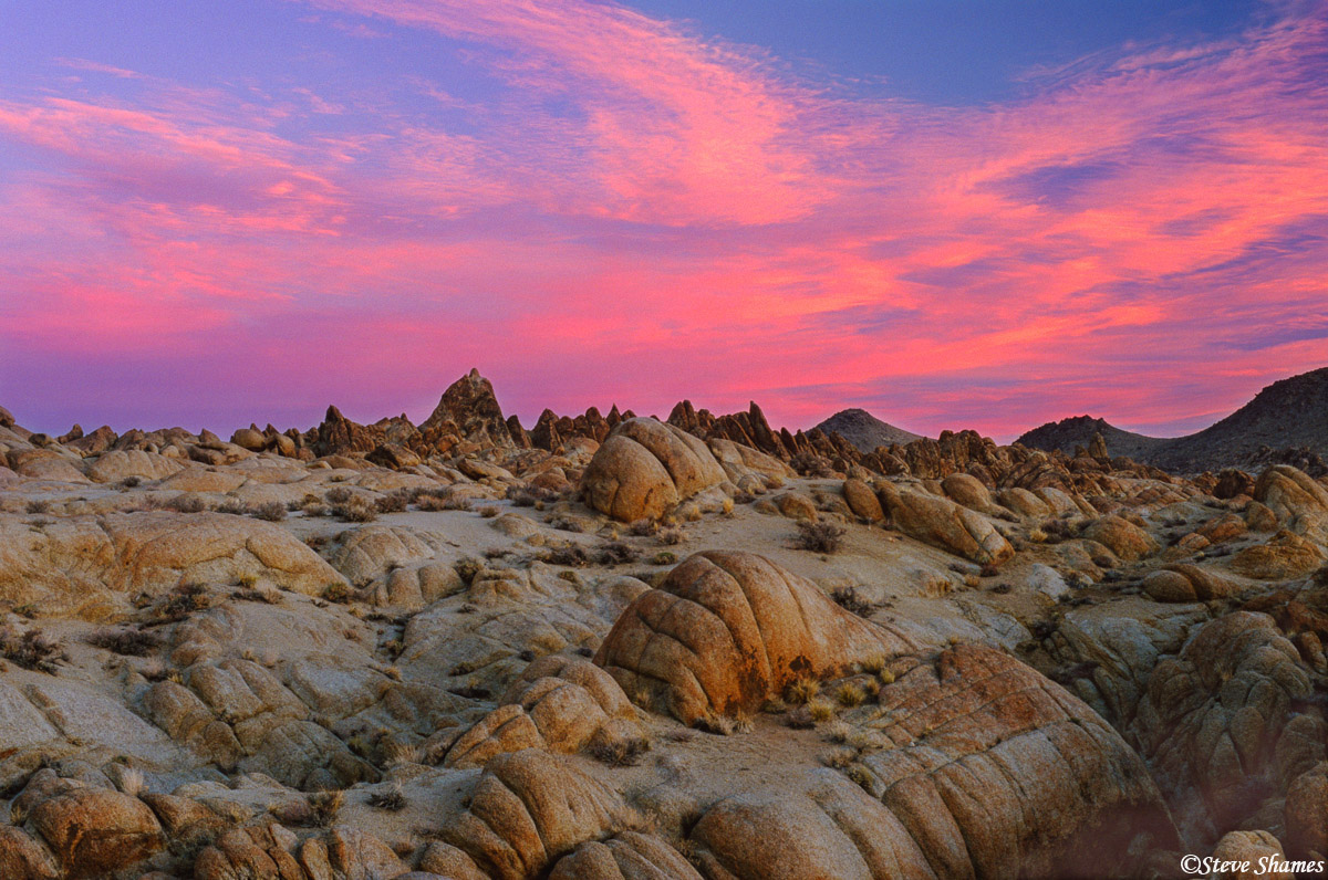 alabama hills sunrise, owens valley, california, photo