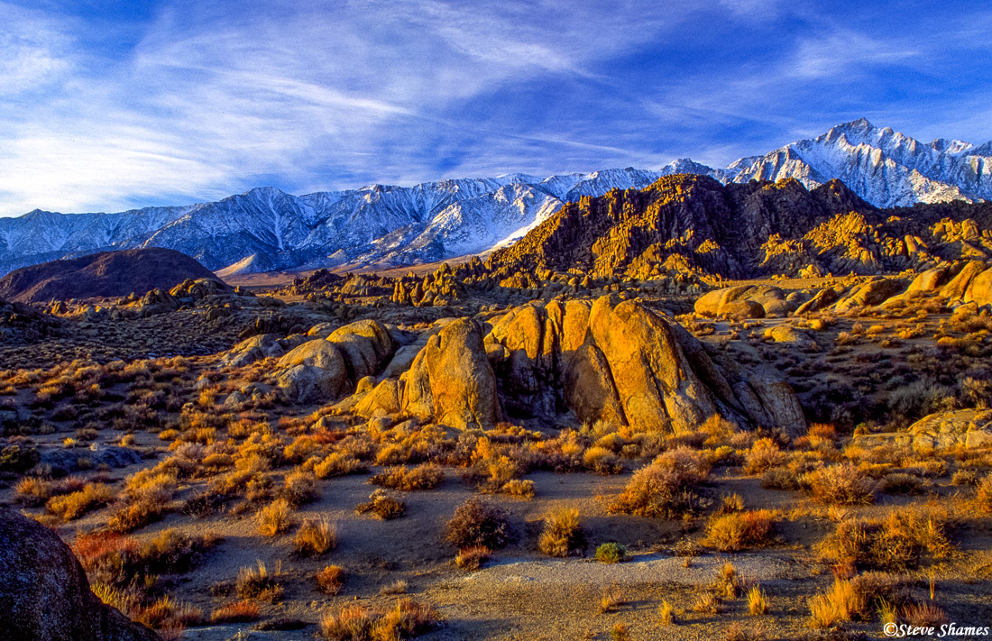 alabama hills, owens valley, california, photo