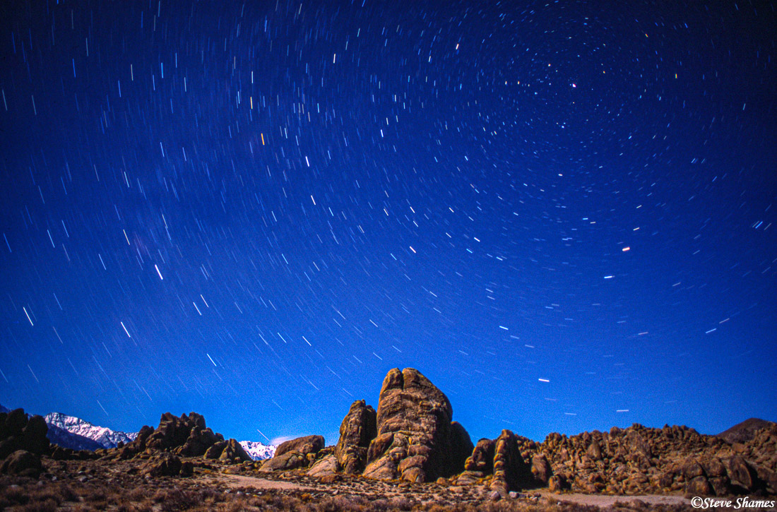 alabama hills, california, star pictures, photo