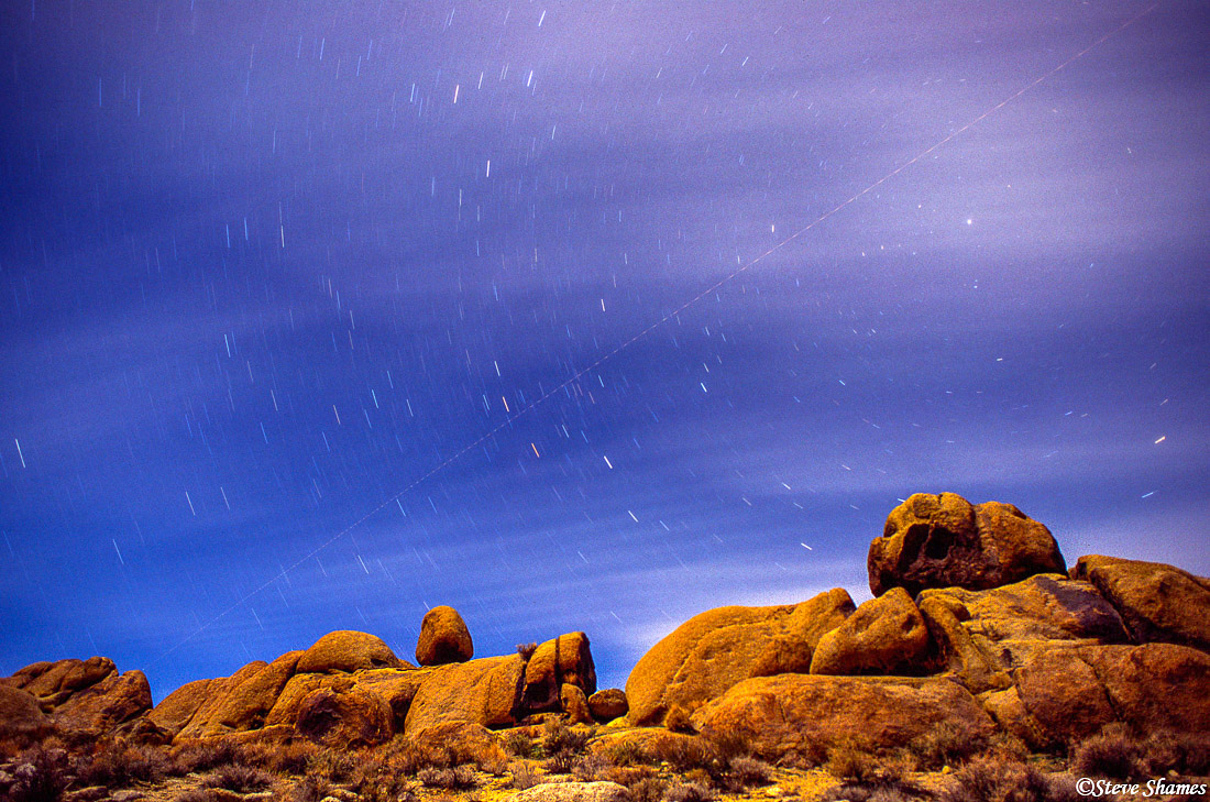 alabama hills, owens valley, california, star shot, photo