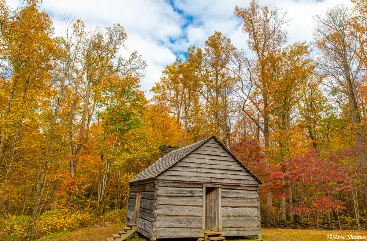 """This is the """"Alex Cole Cabin"""" in Smokey Mountains National Park. I don't know who Alex Cole was, but he had a cozy little cabin..."""