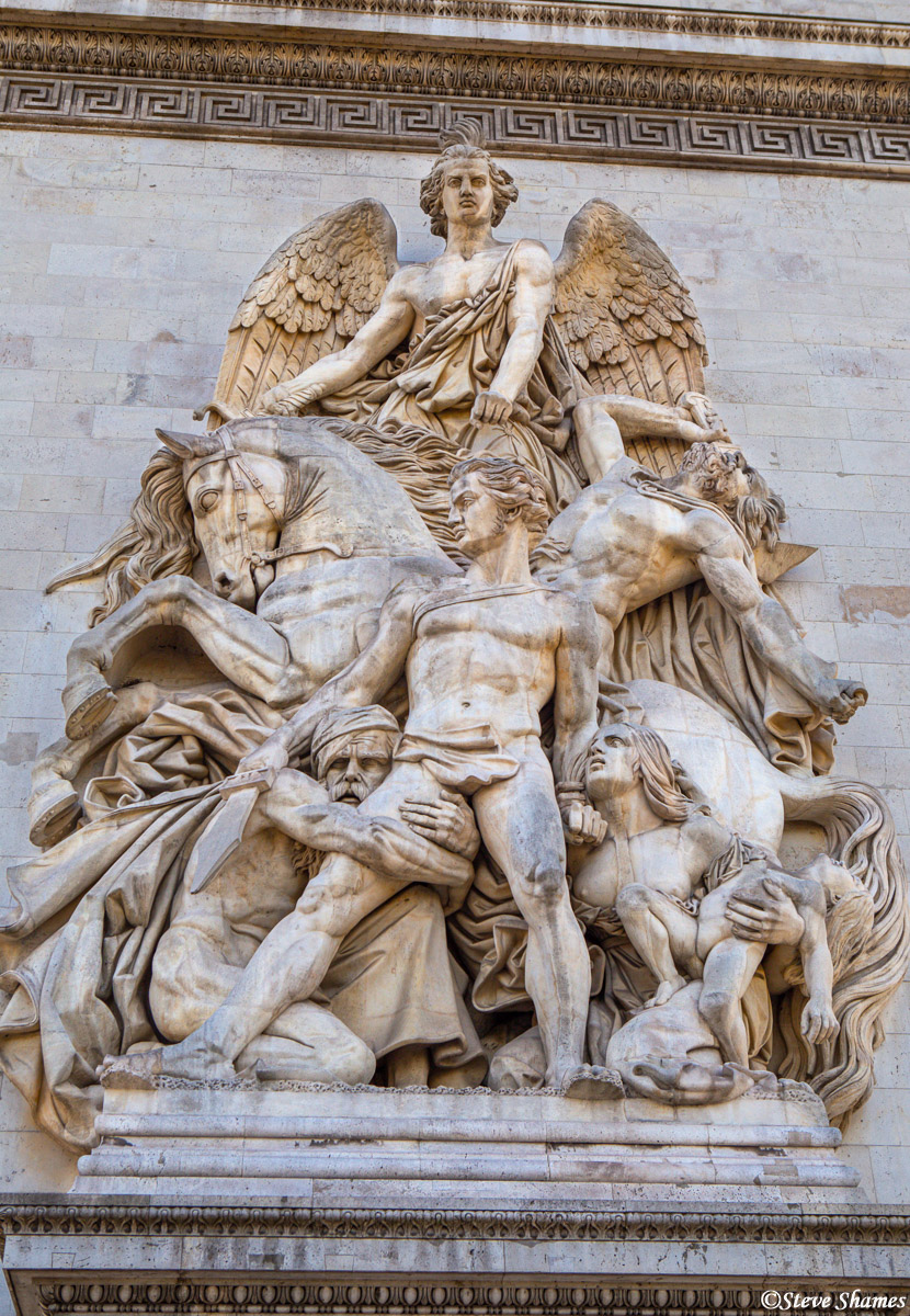 arc de triomphe sculptures, paris, france, photo
