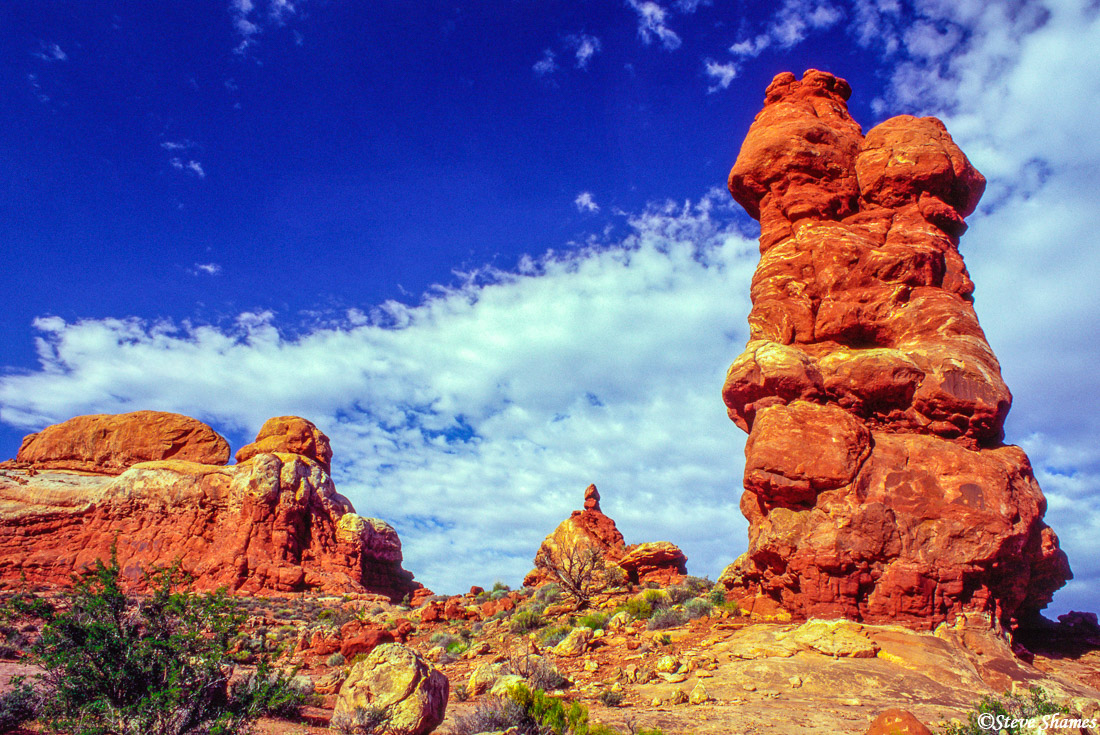 arches national park, utah, rock tower, photo