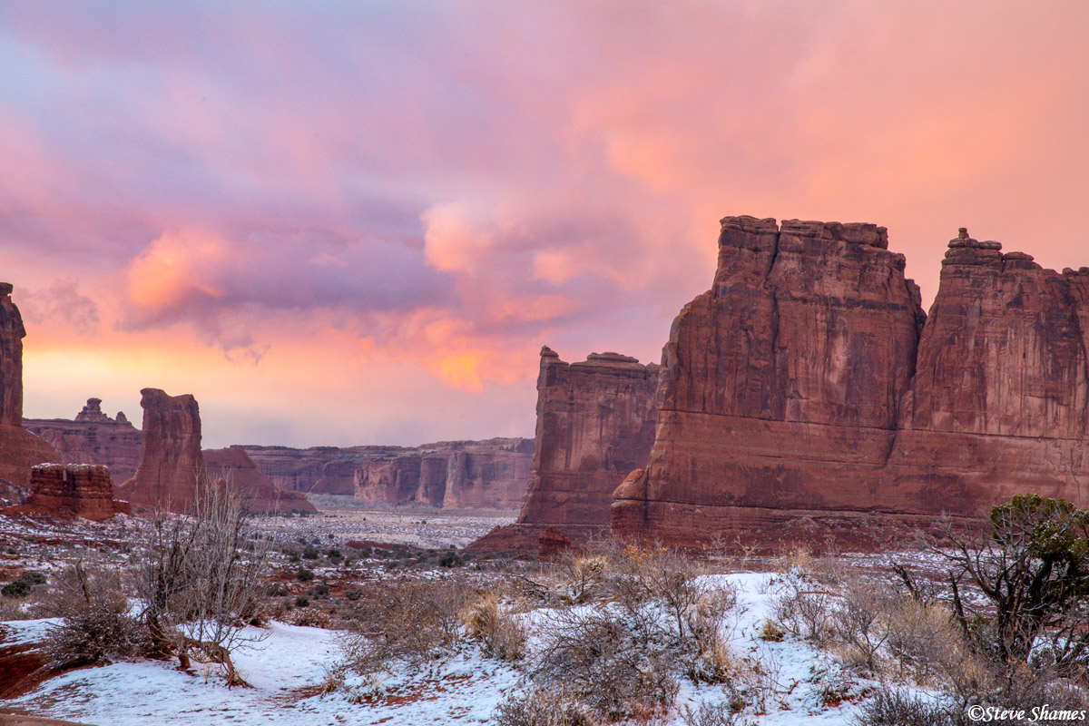 Twilight at Arches. This is the best light of the day.