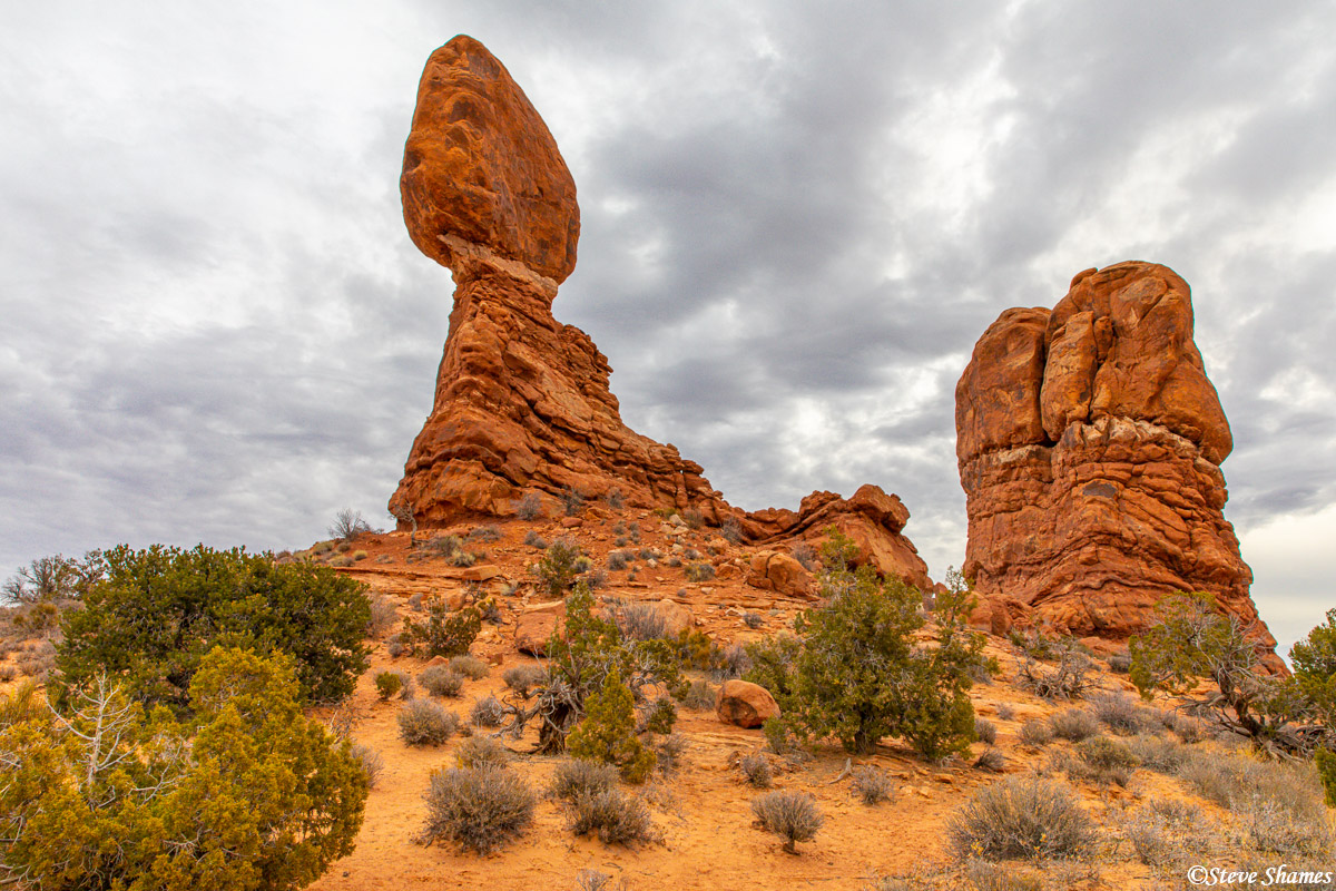 """This is known as """"Balanced Rock"""", in Arches National Park."""