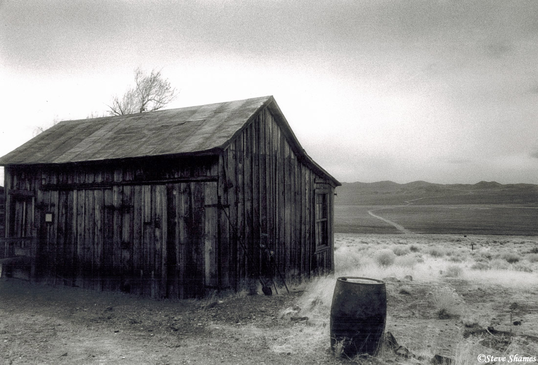 berlin ghost town, nevada, middle of nowhere, photo