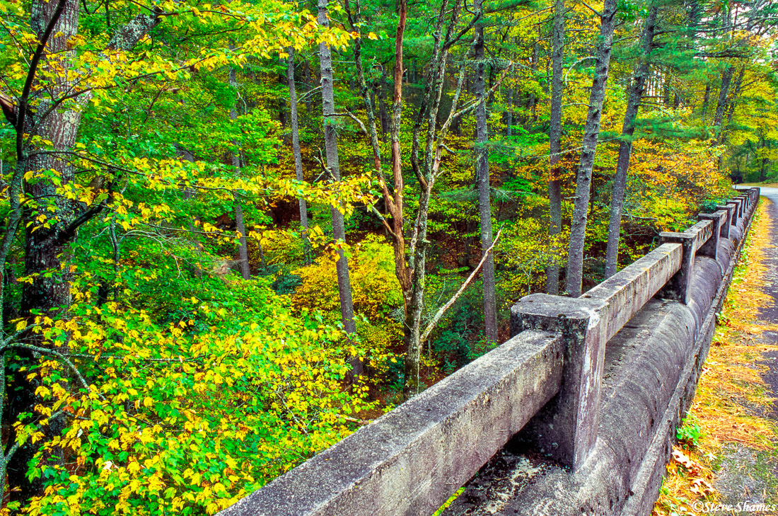 rustic bridge, blue ridge parkway, virginia, photo