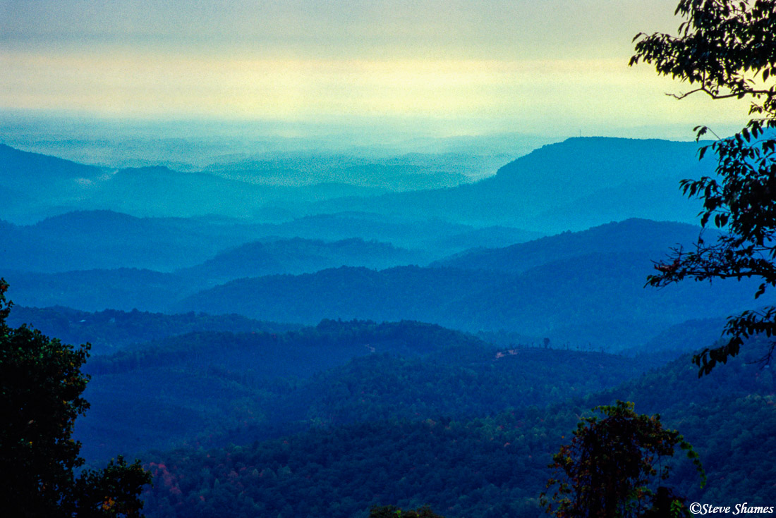 blue ridge mountains, shenandoah national park, virginia, photo