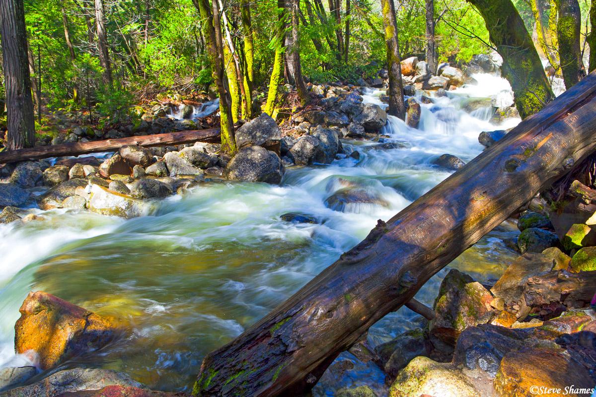 bridalveil creek, falls, babbling, yosemite national park, photo