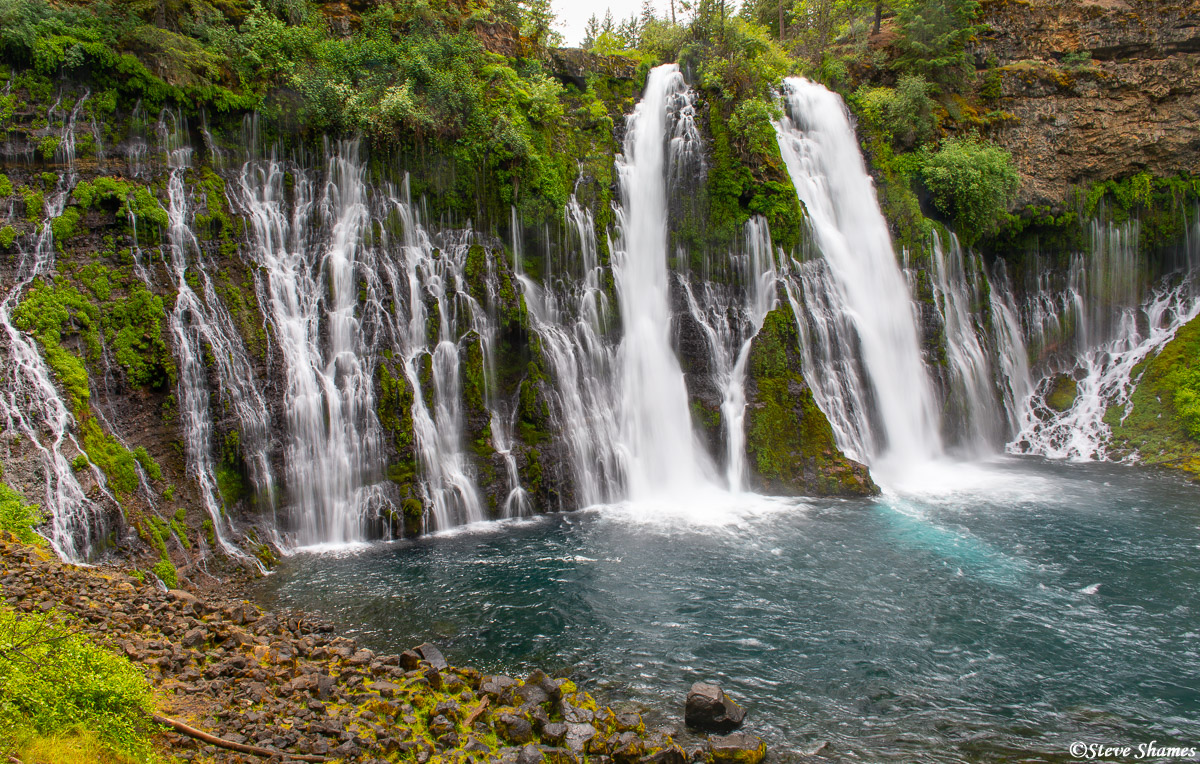 And here is the beautiful Burney Falls. The most scenic waterfall in Northern California.