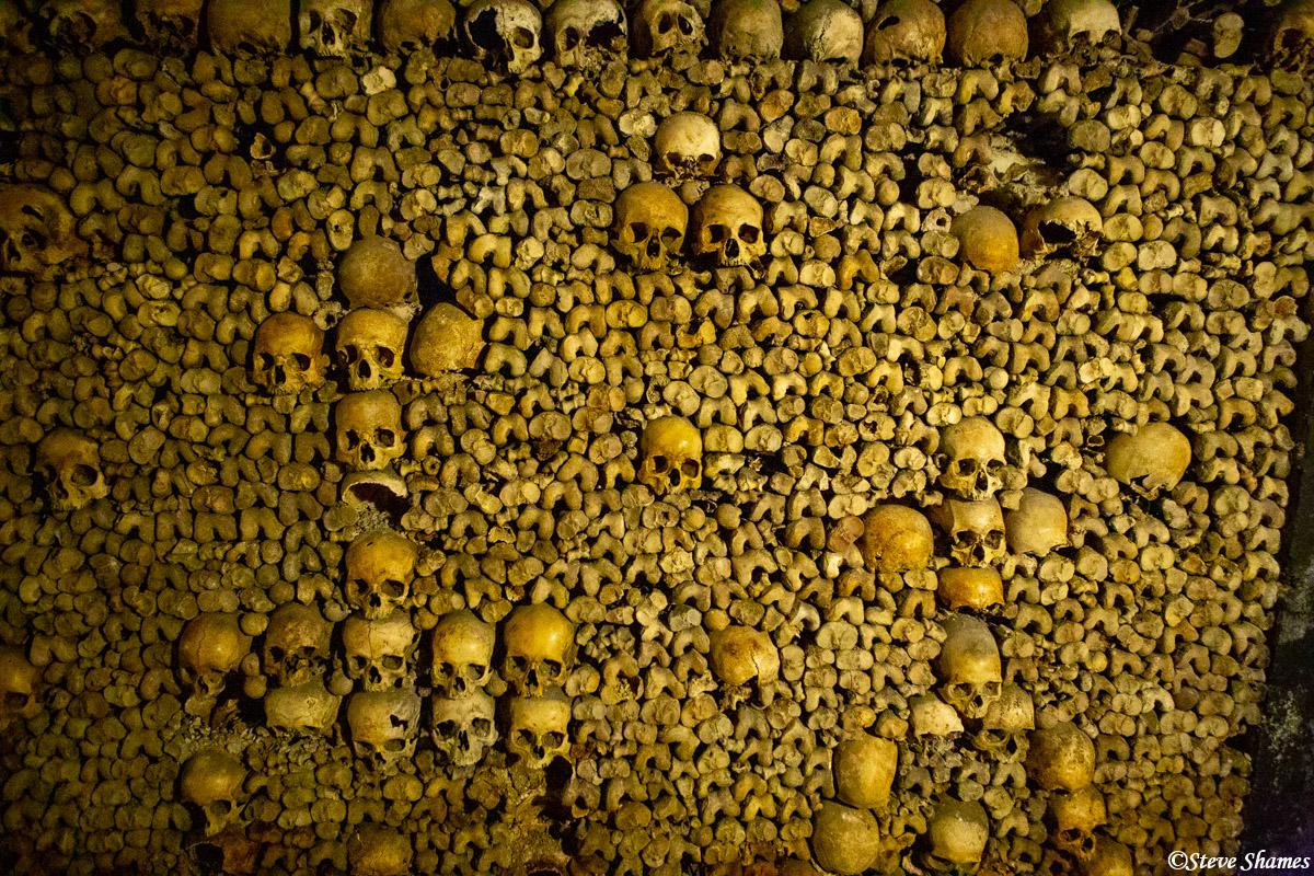 les catacombes de paris, france, human remains, photo
