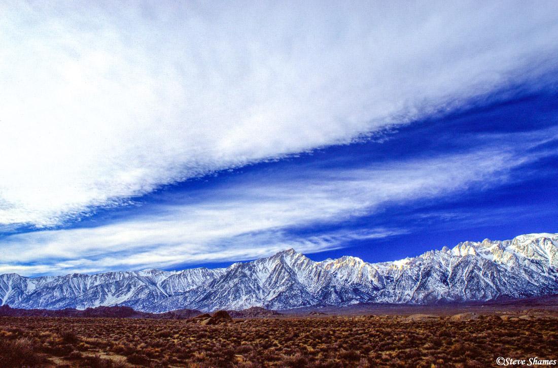 lone pine, california mountains, atmospherics, photo