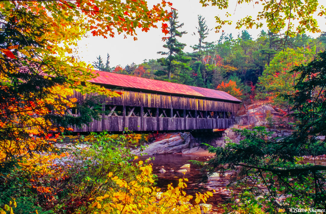 new england, covered bridge, kancamagus highway, new hampshire, photo