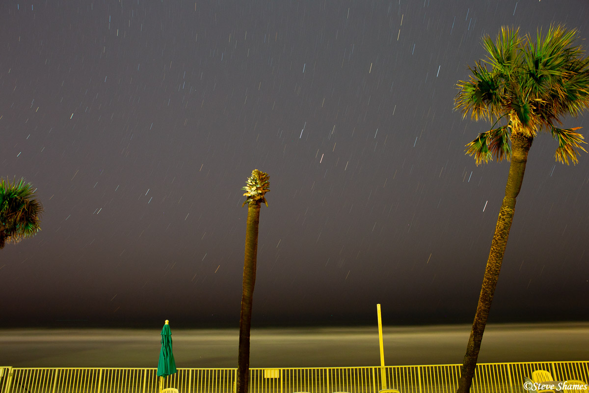 daytona beach, florida, falling stars, photo