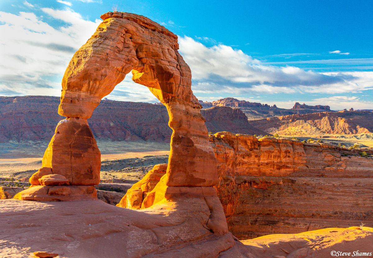 The angle to photograph Delicate Arch depends on what time of the day you are there. It is approached from the north, meaning...