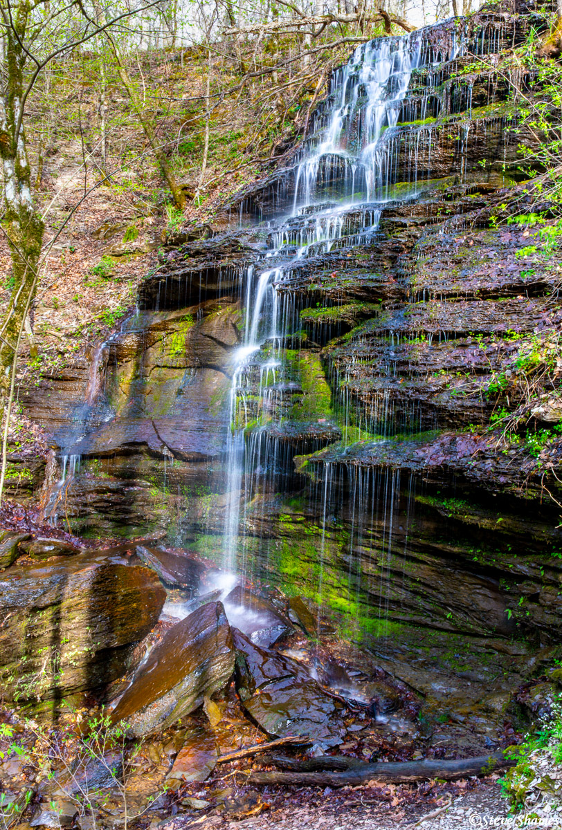 Fall Hollow. One of the several waterfalls along the Parkway.
