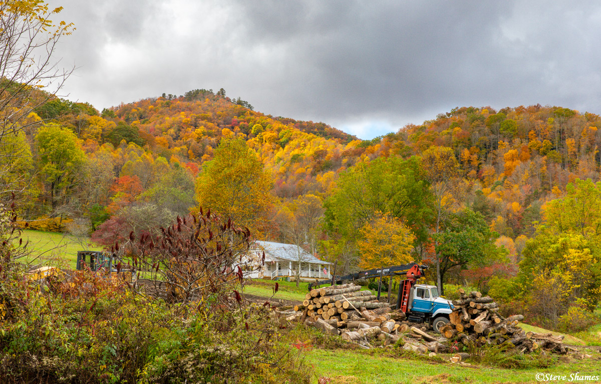 A colorful rural scene in the north Georgia mountains.