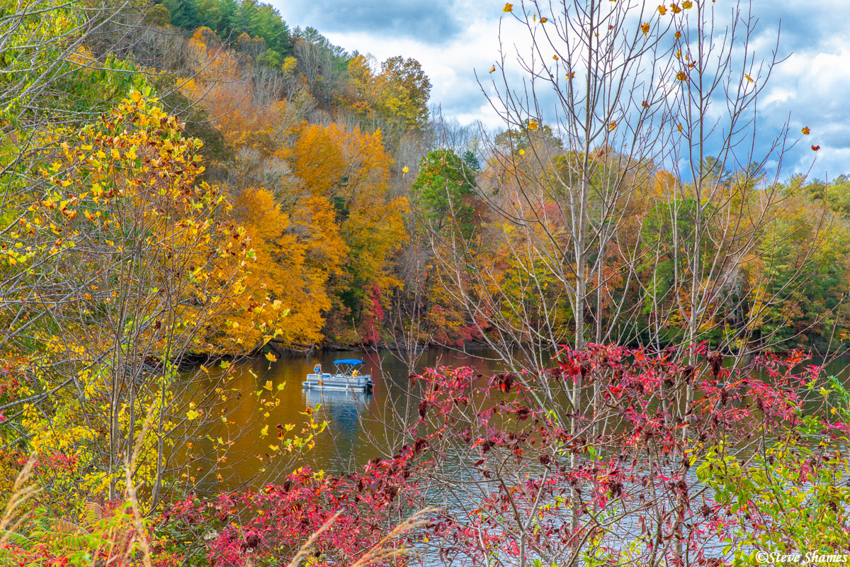 A colorful scene in the North Georgia mountains.