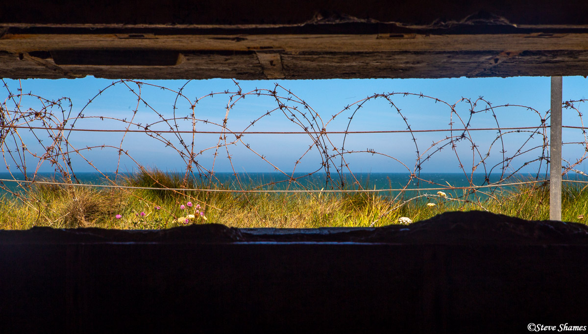 german bunker, normandy france, d-day, point du hoc, photo