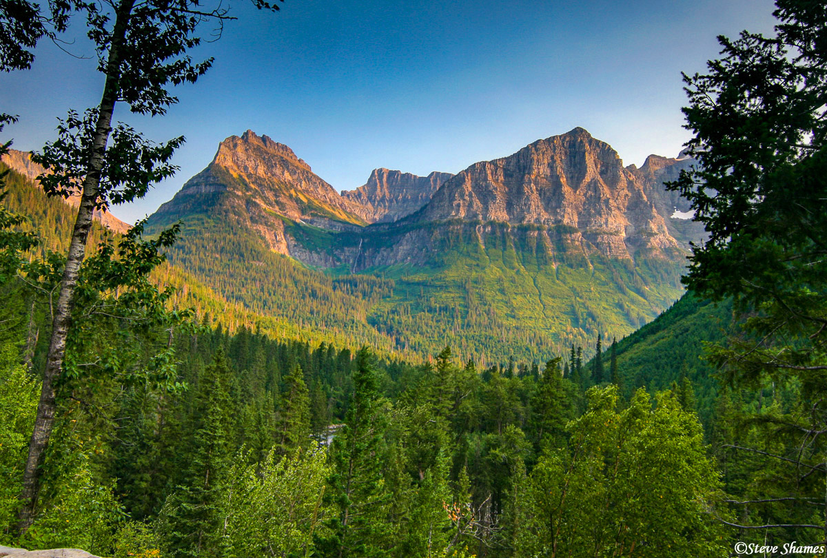 glacier national park, montana, mountain view, photo