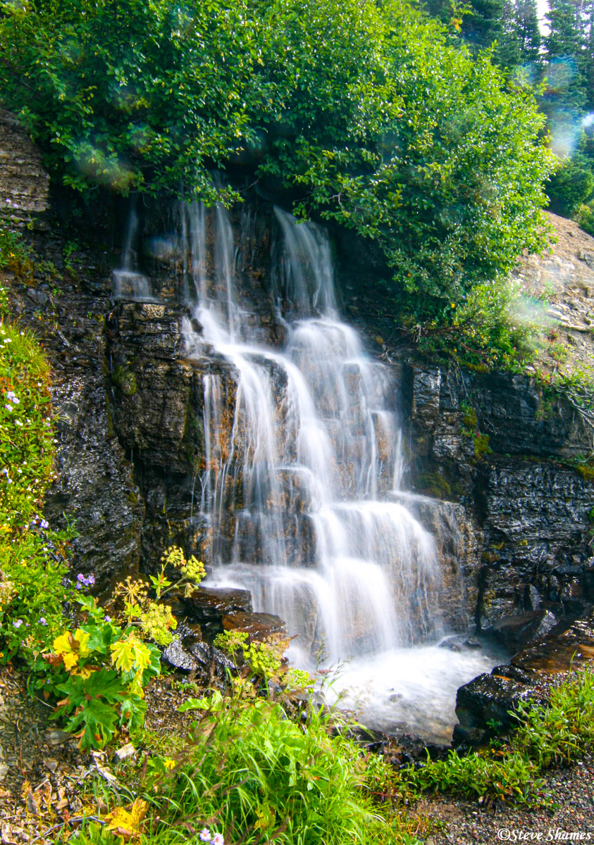 glacier national park, montana, waterfall, photo