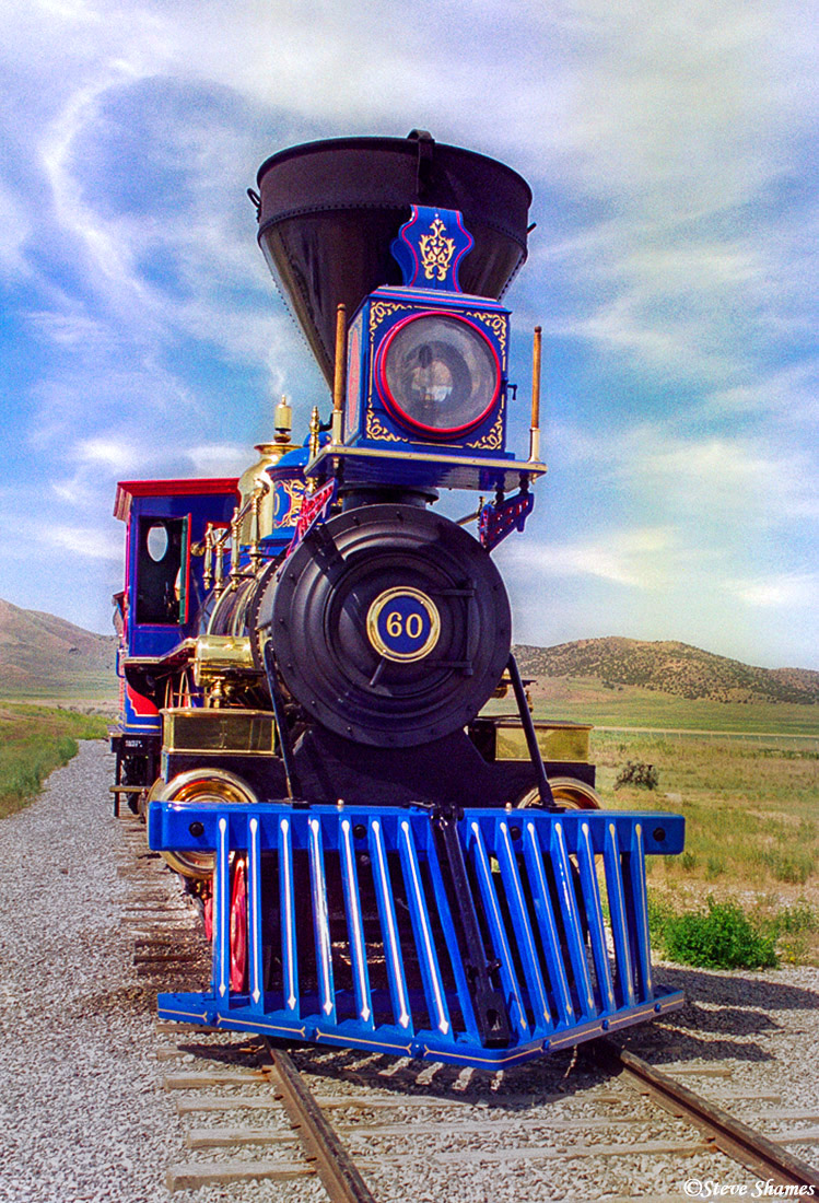 golden spike, promontory point, utah, locomotive, photo