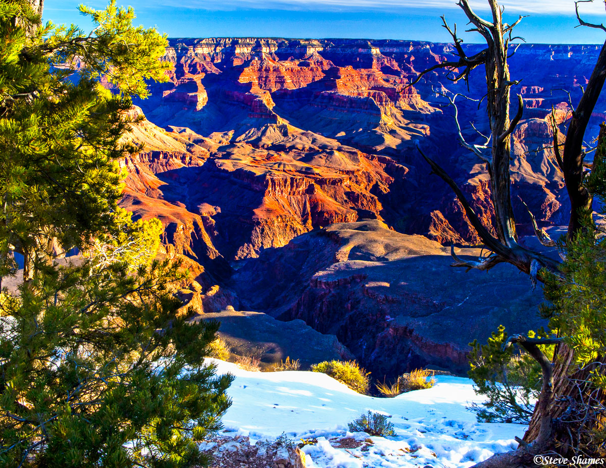 grand canyon, national park, snow, arizona, photo