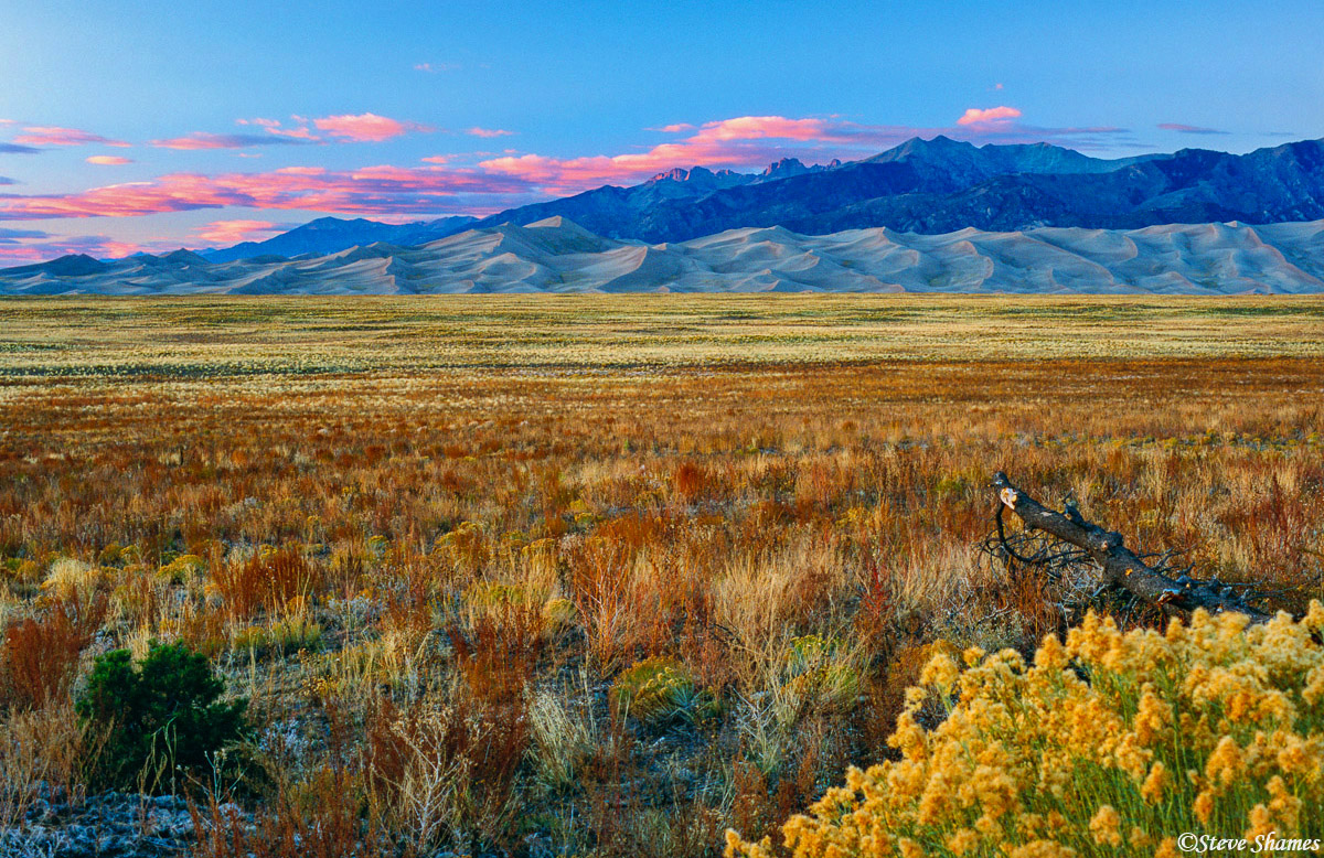 great sand dunes, sunset, national park, colorado, photo