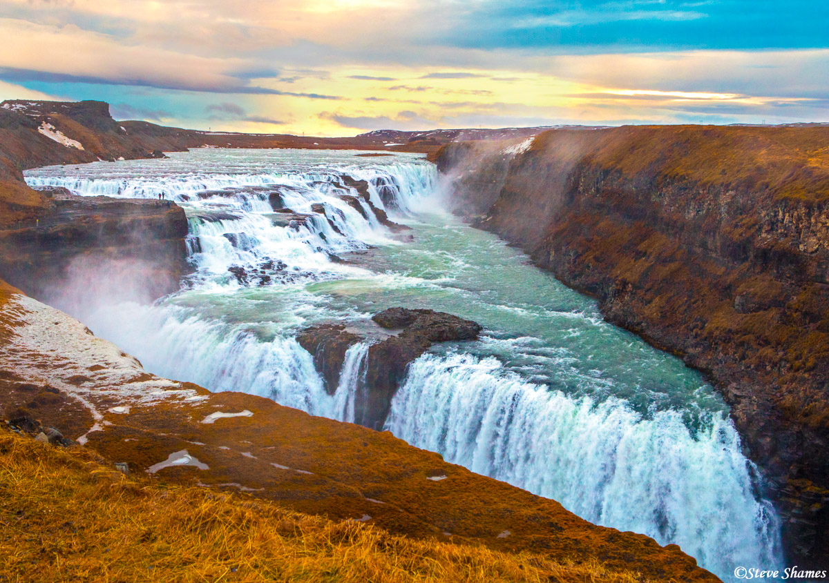 iceland, gullfoss waterfall, photo