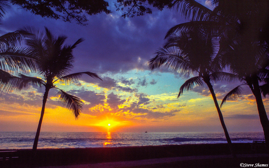 hawaii, big island, kailua kona, sunset, photo