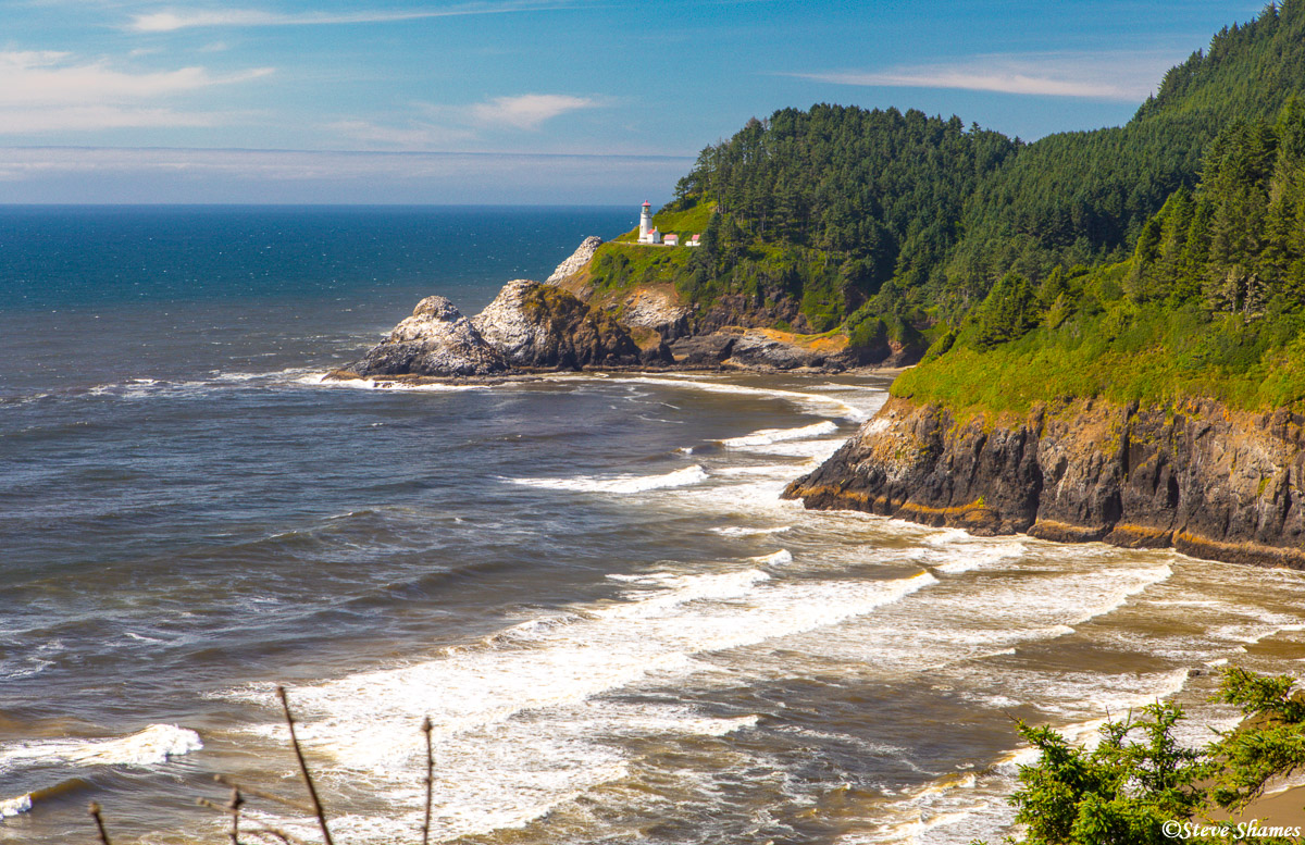 One of the more scenic spots along the Oregon coast -- the Heceta Head Lighthouse.