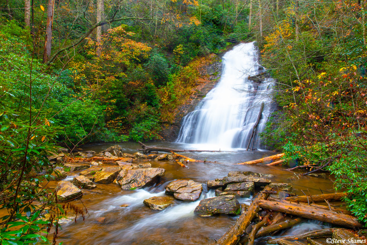 Here is Helton Creek Falls in north Georgia. One of the more scenic waterfalls in the area.