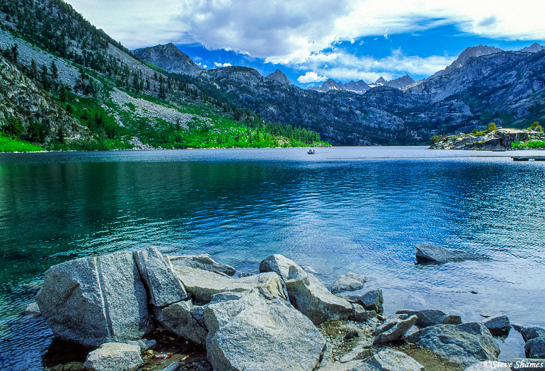 sierra nevada mountains, alpine lake,, photo