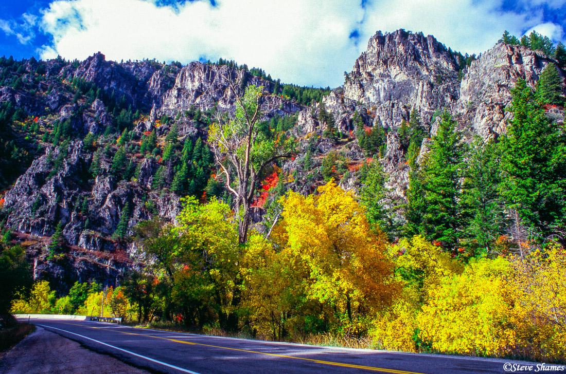 logan canyon, utah, highway 89, photo