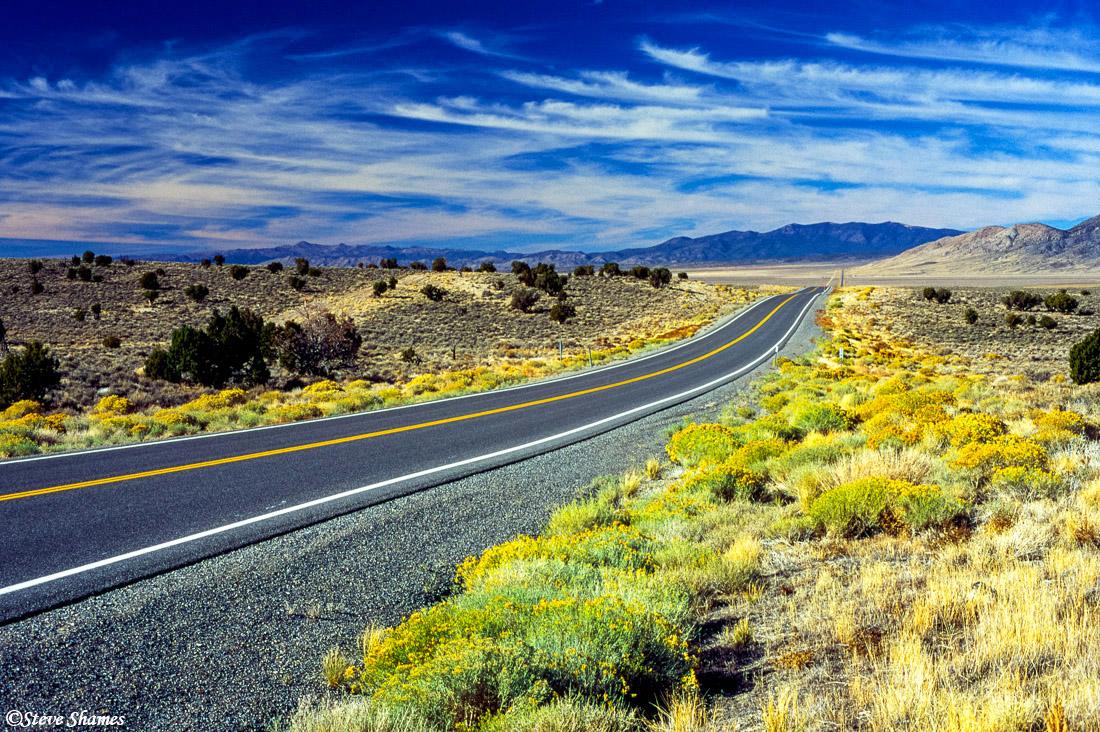 highway 50, nevada, loneliest road in america, photo