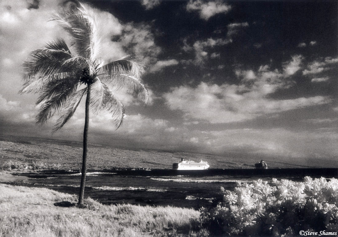 kona, big island, hawaii, kailua bay, cruise ships, photo