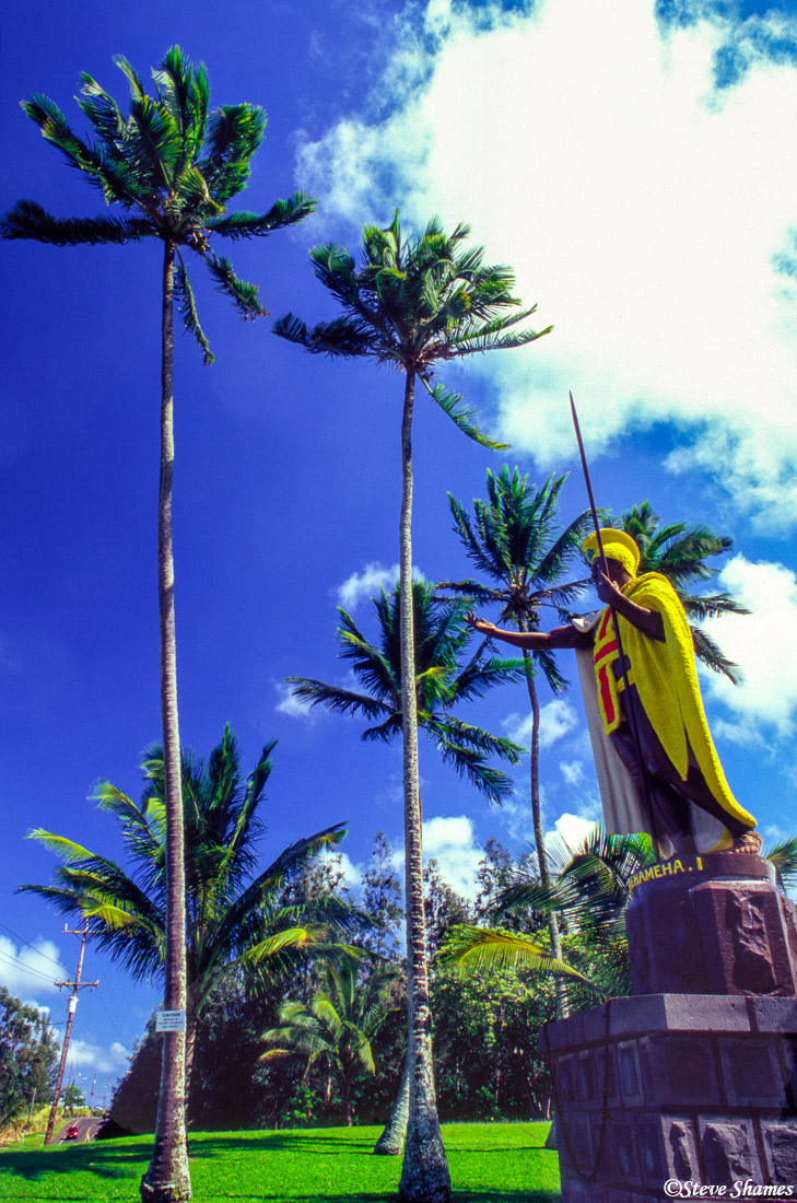 kapa'au, big island, hawaii, kapaau, king kamehameha, statue, photo
