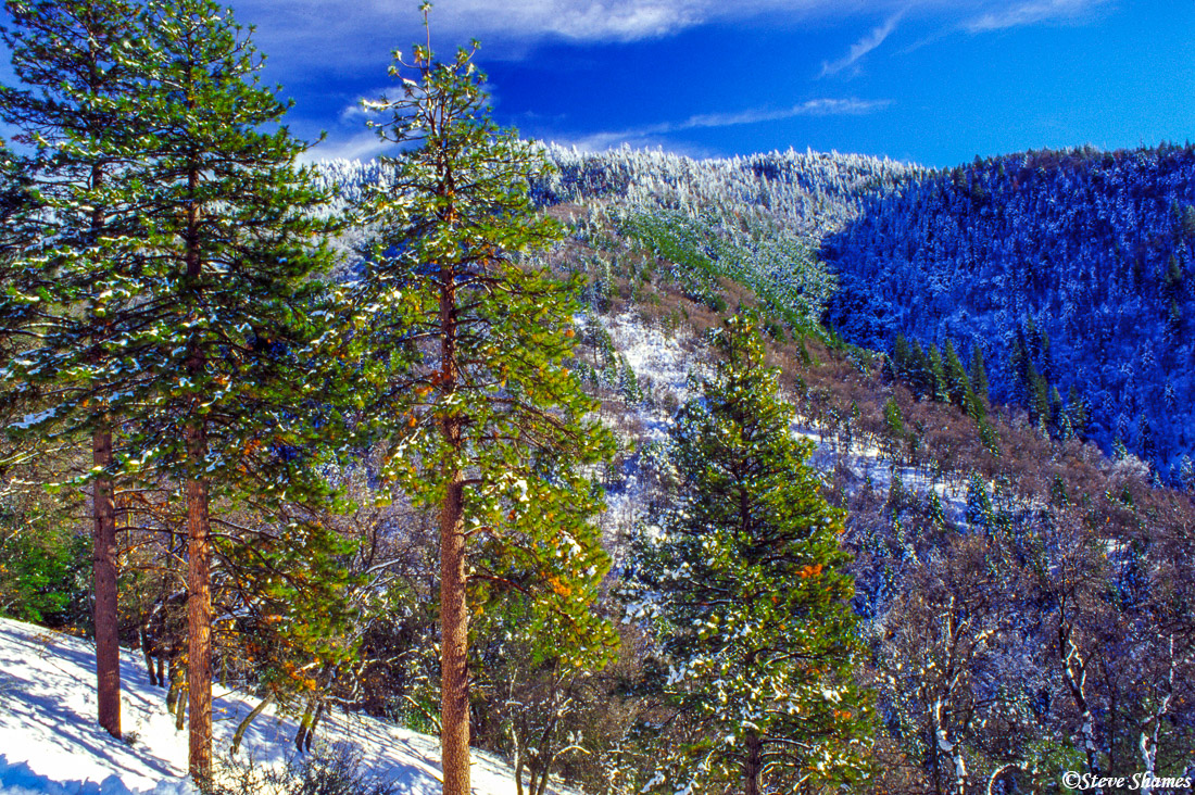lake isabella, highway 178, california, snow scene, , photo