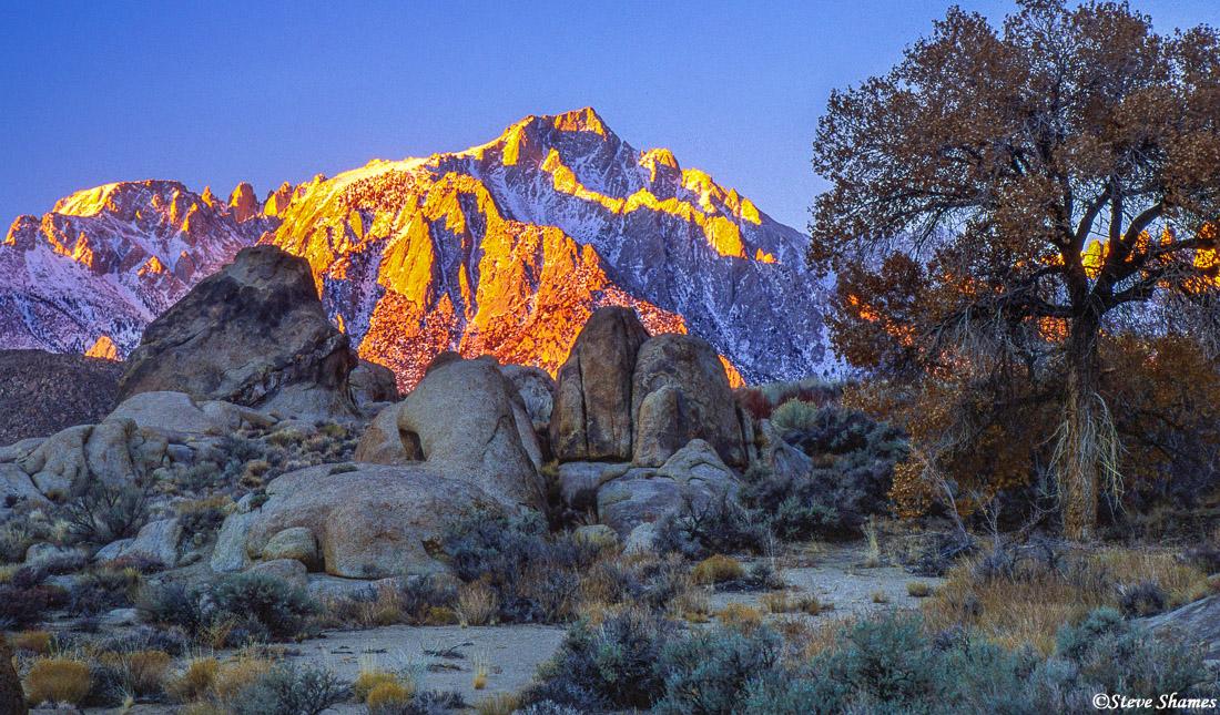 alabama hills, eastern california, lone pine peak, mt. whitney, photo